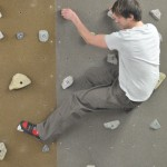 Real stone climbing holds on textured boards